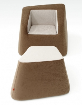 意大利巧克力软座垫沙发家居家具设计-灵感来自食品,主要是巧克力,完全一致看起来好足够的食物。非对称形式的基础上加以倾斜,有食物的设计灵感。