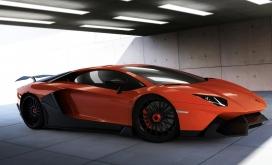 高清晰renm兰博基尼lamborghini橙色汽车
