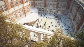 伦敦V&A博物馆地下画廊-大楼有咖啡厅
