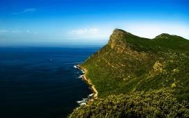 高清晰靓丽的自然海洋海岸线美景壁纸