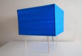 画家DIY的蓝色磁带四角桌方灯-ScotchBlue Painter作品