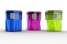 概念化妆品菱形容器