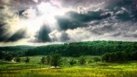 阳光普照-高清晰HD绿色自然风景壁纸