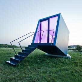 奥地利建筑师WG3作品-一个移动的酒店房间Hypercubus,可提供各种室外场所