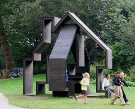 离奇想象力-荷兰公园空架凉亭房屋设计-无论你坐,或爬,都会发现这种独特的建筑-荷兰格罗宁根Gerard de Hoop设计师作品