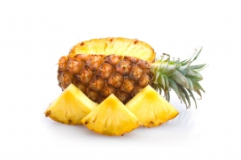 高清晰水果菠萝壁纸