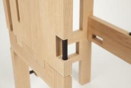 可以拆卸的靠背座椅-美国masamune kaji家居设计师作品