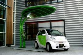 公园绿地停车区-Lotus莲花太阳能光伏板汽车充电器-意大利罗马Giancarlo Zema设计师作品