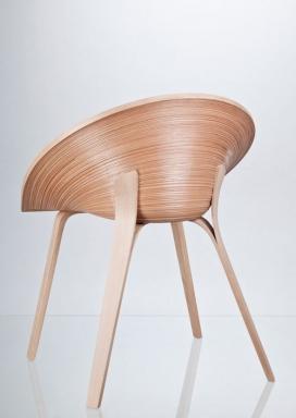 紧密绕带纹理贴面椅子凳子-捷克Anna Štepánková工业家居设计师作品