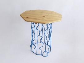 树桩户外圆凳子家具-Peter Jakubik家居设计师作品