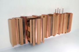 橡树铜废旧材料制成的餐具柜-Joint Perspectives设计师作品