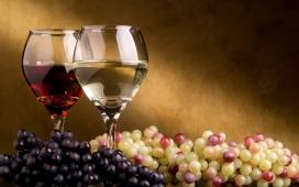 葡萄酒+紫葡萄+提子水果