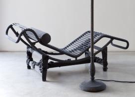 针编织纱线家居家具-意大利Loredana Bonora家居设计师作品