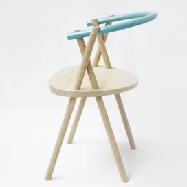 纵横交错的椅子腿Stuck Chair木椅设计-荷兰Oato设计师作品