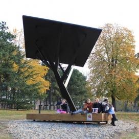 公园黑树太阳能亭子-塞尔维亚Miloš Milivojevic设计师作品
