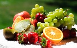 高清晰新鲜Fruits水果组合壁纸