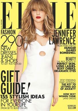 詹妮弗・劳伦斯-巴黎世家登录ELLE世界时装之苑2012年12月美国封面