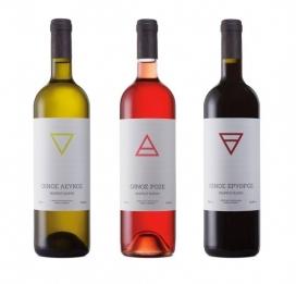 希腊Chris Trivizas设计-4Elements玫瑰红葡萄酒包装设计,清晰的视野,灵感来自自然的四大要素(水,土,气,火)标签,也有着千丝万缕的联系,