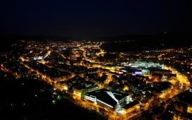 高清晰城市夜景建筑壁纸