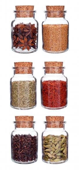 高清晰透明玻璃罐装五谷杂粮食品香料配料图