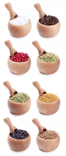 短柄木罐-五谷杂粮食品香料配料图