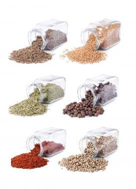 高清晰透明玻璃管五谷杂粮食品香料配料图