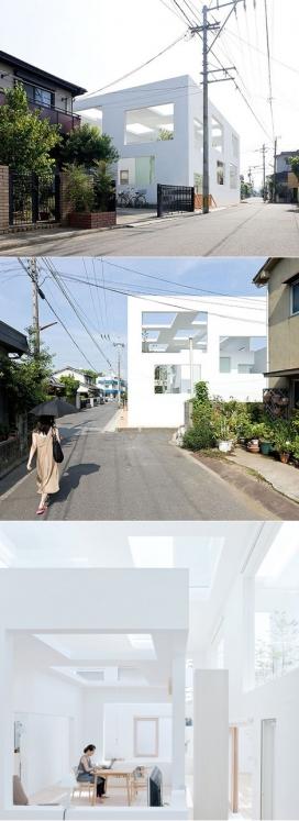 矩形窗墙壁和天花板白色房屋建筑-日本Sou Fujimoto概念建筑设计师作品