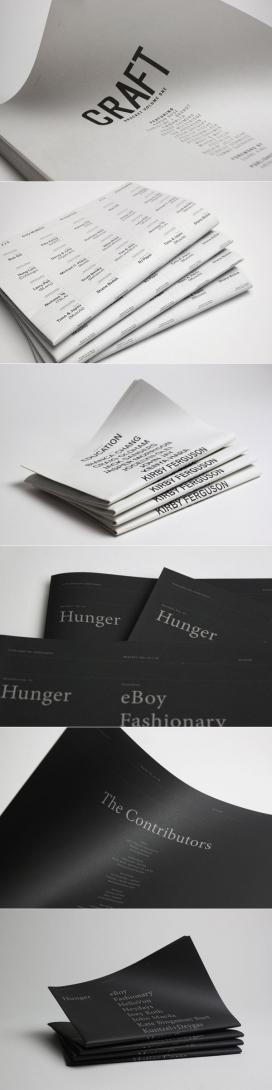 大气的Bracket Vol. 01―04海报刊物宣传册设计-新加坡SILNT工作室作品