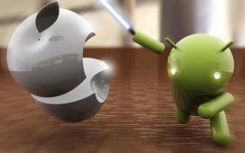 Android安卓卡通形象手持剑再战苹果卡通