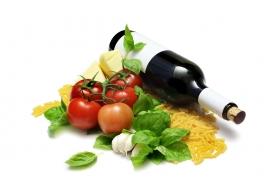 唯美的蔬菜水果酒类素材图