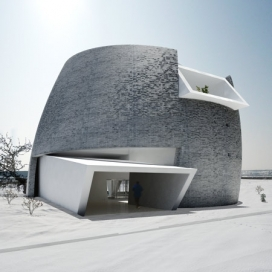 国内蒙古鄂尔多斯蒙古包建筑-纽约建筑师Multiplicities作品