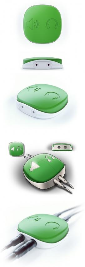 可爱便携的HABO概念音箱扬声器开关盒设计-俄罗斯莫斯科Estiva数码产品设计师作品