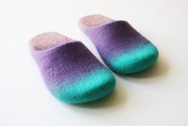 羊毛毡制作的渐变拖鞋-英国手工设计师Onstail作品