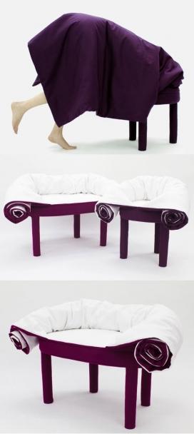 方便蜷缩在沙发上小睡的躺椅-Les M设计师作品