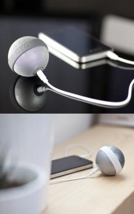 HE染色便携式球星音箱,可以连接您的iPhone,iPod的,笔记本电脑等电子设备,提供了360度的音频盛宴-Bernhard Burkard音箱设计机构作品