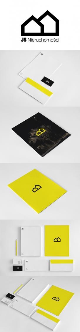 JS房地产品牌宣传册名片设计-波兰卢布林Mateusz Bakala WidziMisie平面设计师作品