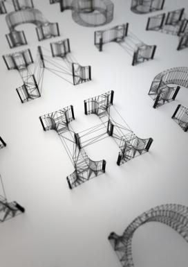 Wire建筑字体-英国伦敦Dan Hoopert字体设计师作品
