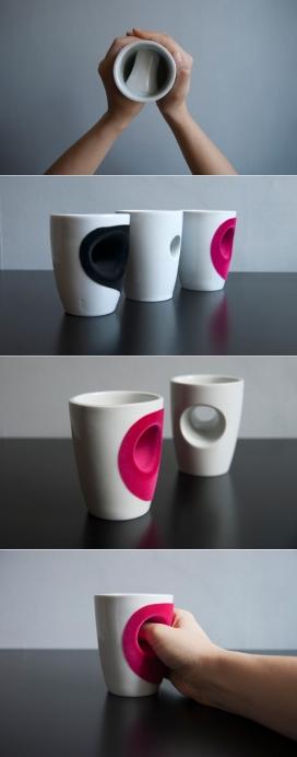 指环拥抱杯-瑞典哥德堡eszter imre产品工业设计师作品
