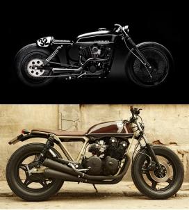 咖啡厅的摩托车赛车梦-西班牙