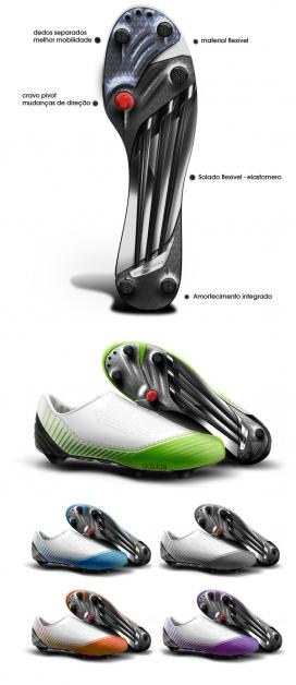 阿迪达斯Biomecanik足球运动鞋-这足球运动鞋是根据足球运动员的生理解剖设计的