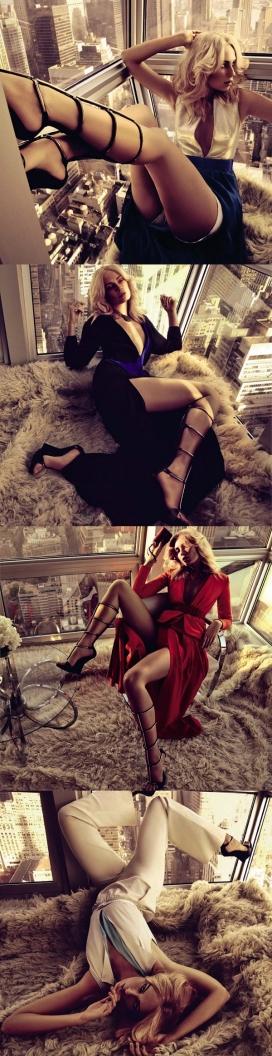 小镇姑娘-在别致的复式公寓套房里拍摄华丽时尚晚装