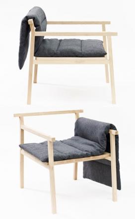 小巨人的椅子-是丹麦一位刚毕业Signe Hytte学生作品