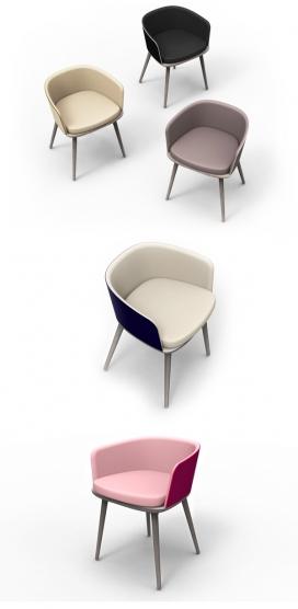 艾米橡木框架椅子