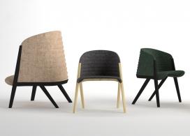 波浪形扶手靠背椅-西班牙设计师Patricia Urquiola家居作品