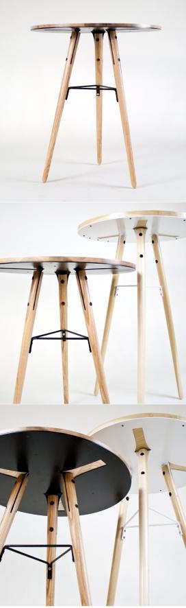 三只脚的咖啡圆桌设计