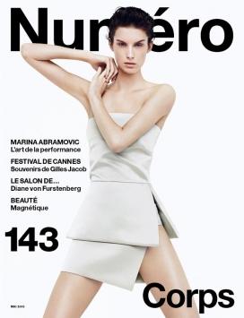 马尔特美范-普拉达登录法国杂志Numéro第143期封面设计