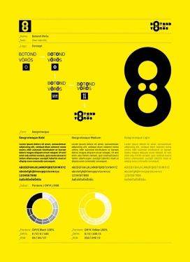 Botond Voros品牌宣传册设计-大气的黄黑排版设计