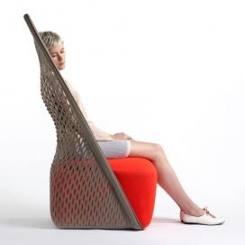 带吊床的摇篮网状休闲椅子-来自意大利家具Moroso品牌