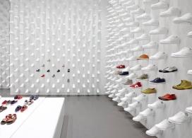 纽约Camper Together白色运动鞋专卖店设计-日本Nendo设计师作品