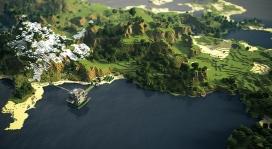 岛屿风景马赛克拼图壁纸